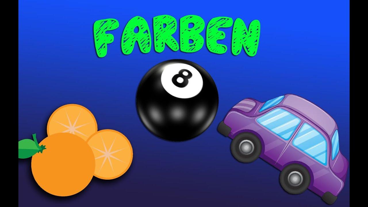 Farben lernen für Kinder mit farbigen Gegenständen und buntem Spielzeug.