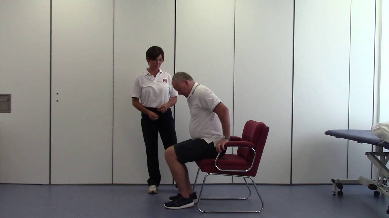 Chair Sit To Stand Exercise Diy Recliner Youtube