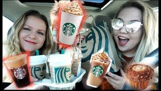 Trying All The Fall Starbucks Drinks And Treats!! 2019!!