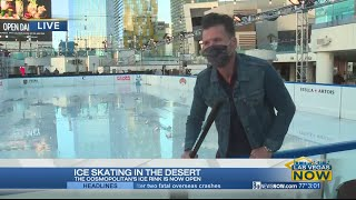 Checking out the ice rink at The Cosmopolitan