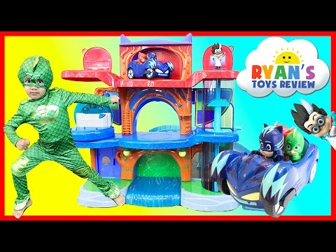 PJ Masks Headquarters Playset Catboy Gekko Owlette Romeo Luna Disney Toys Superhero In Real Life IRL