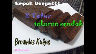 Cara Membuat Brownies Kukus Untuk Pemula ( menggunakan takaran sendok )