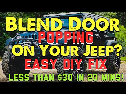 How To Replace Jeep Blend Door Actuator EASY DIY FIX For Less Than $30 and 20 Mins!