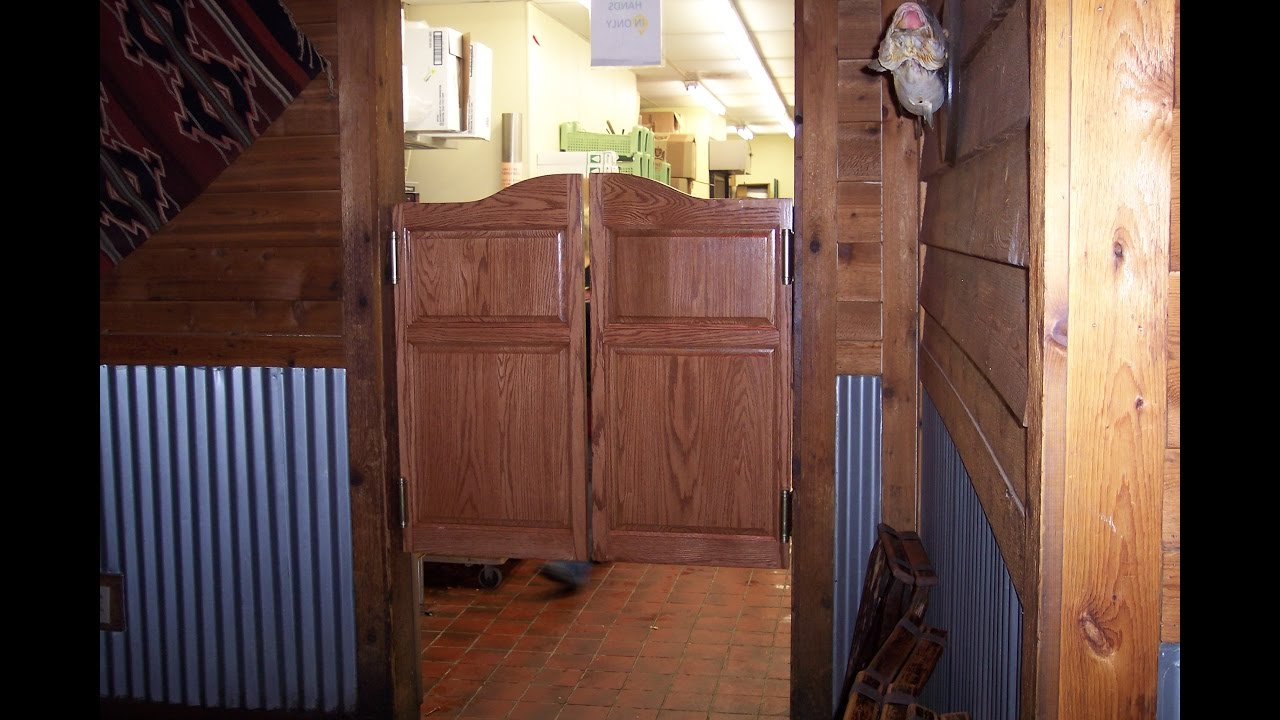 Double swing door detail youtube