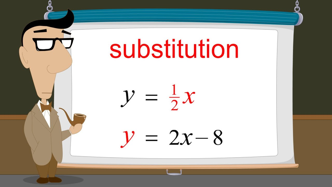 algebra solving systems of equations by substitution