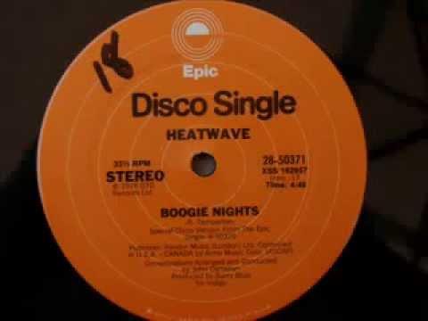 70 s disco music   Heatwave   Boogie Nights 1976