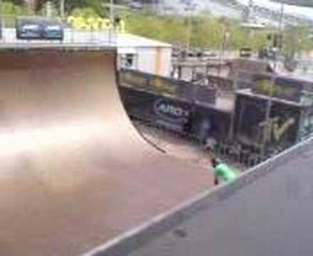 Halfpipe Session At Monster Skatepark