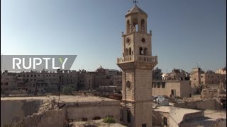 Syria: Christian worshippers return to Aleppo church after eight years of war