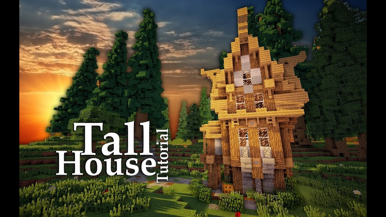 Minecraft: Medieval Tall House Tutorial | Design #6