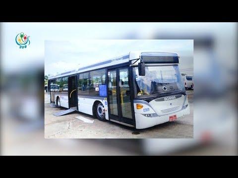 DVB - Scania ကားသစ္ေတြနဲ႔ ၿမိဳ႕ပတ္ ဘတ္စ္ကားေတြကို ေျပးဆြဲမယ္