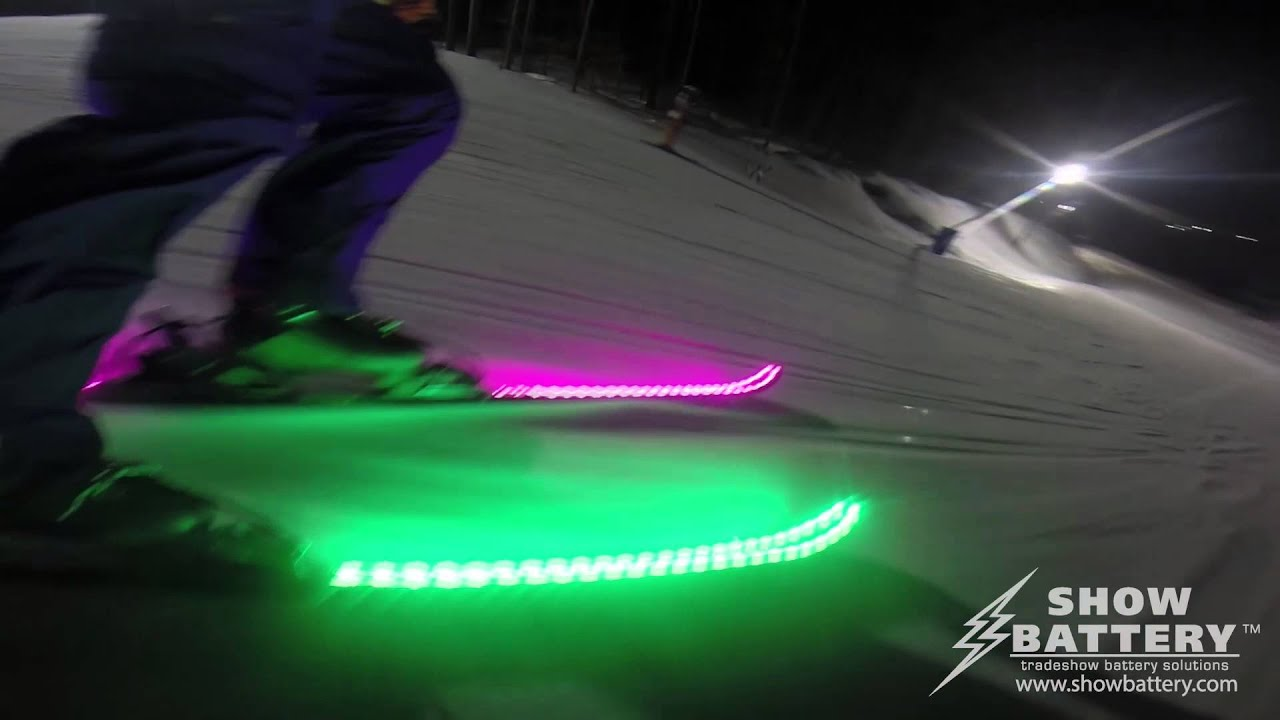 battery lighting solutions. LED Skis Powered By ShowBattery. Show Battery Tradeshow Solutions Lighting