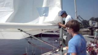 Reefing a Mainsail at Larchmont YC