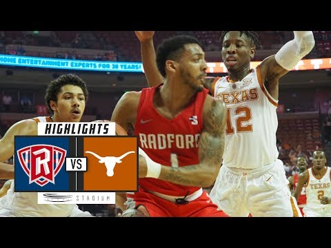 Radford vs. No. 17 Texas Basketball Highlights (2018-19) | Stadium