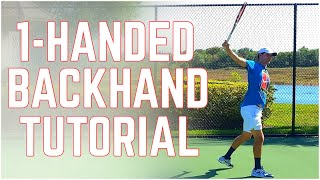 One-Handed Backhand Perfection - Backhand Technique - Tennis Lesson