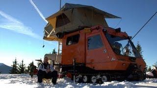 Winter Wonderland Snowcat Camper Oregon Cascades