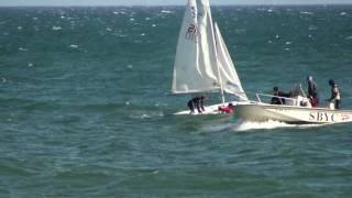 Sail boat tipping over in Santa Barbara