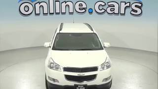 C97375RO Used 2012 Chevrolet Traverse SUV White Test Drive, Review, For Sale