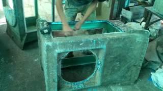 Dismental of fiber cooler from die