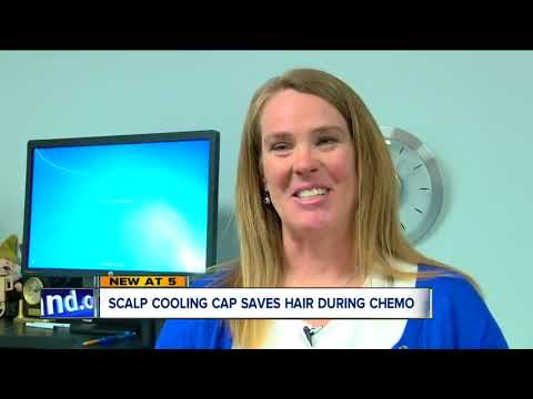 Scalp cooling cap saves hair, during chemo