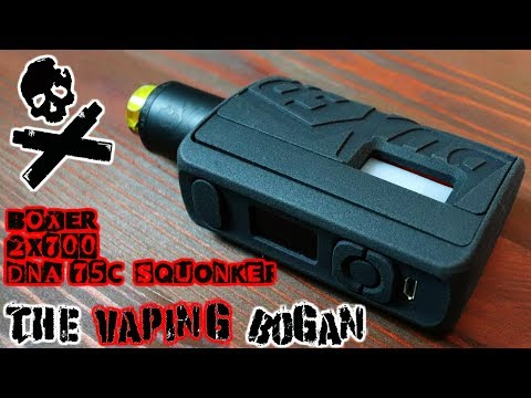 BOXER 2X700 DNA75C Squonk Mod | Full Review | The Vaping Bogan