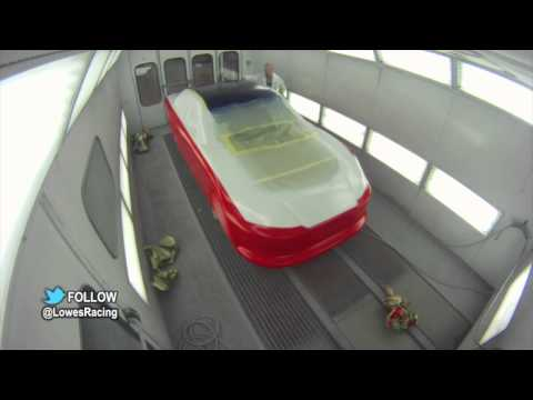 Jimmie Johnson No. 48 Car Painting Time Lapse