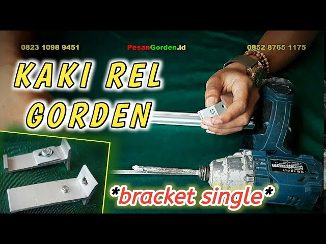 Kaki Rel Gorden | Bracket Single Curtain Rail 085287651175 #tutorial