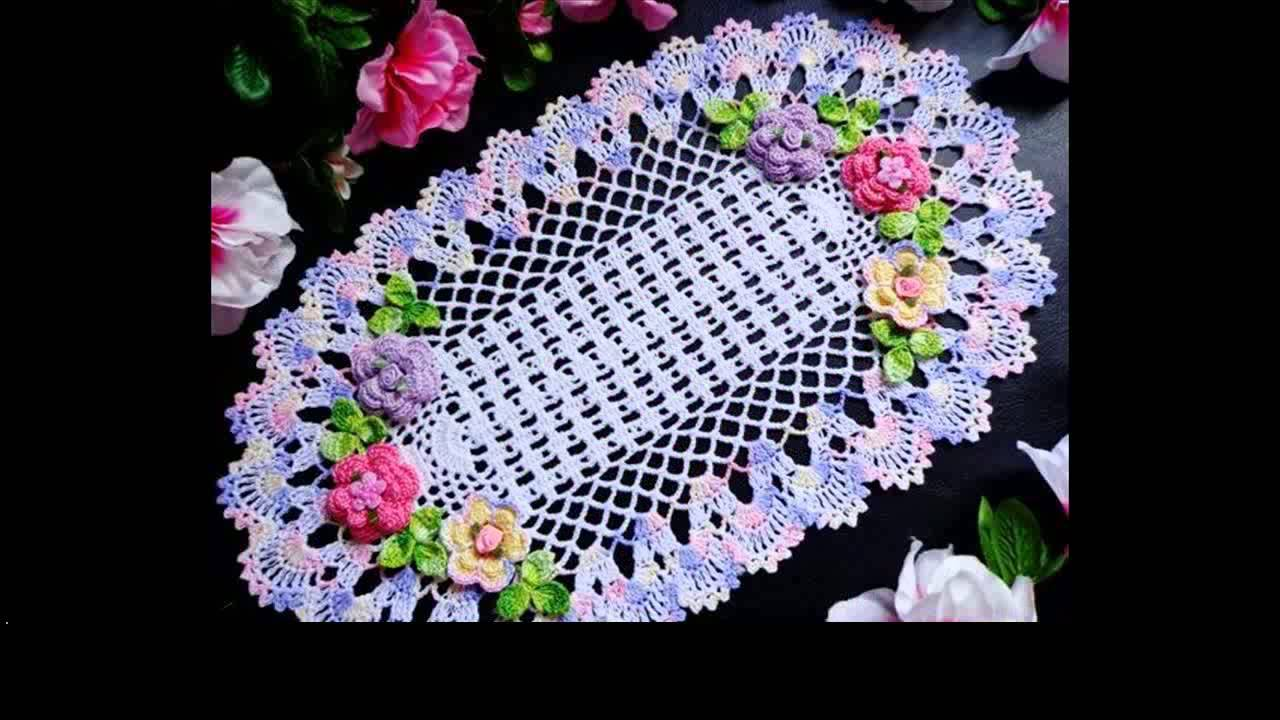 easy crochet doily free patterns - YouTube