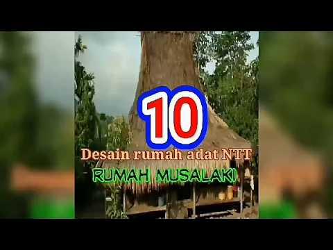 10 Desain Rumah Adat NTT, Rumah Musalaki