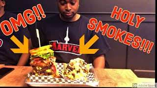 WTF!! HUGE BURGERS FROM TOP GUN BURGERS!? BEST IN THE CITY?!? (MarvedTV episode 3)