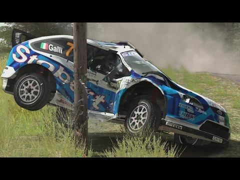 Dirt rally crashes