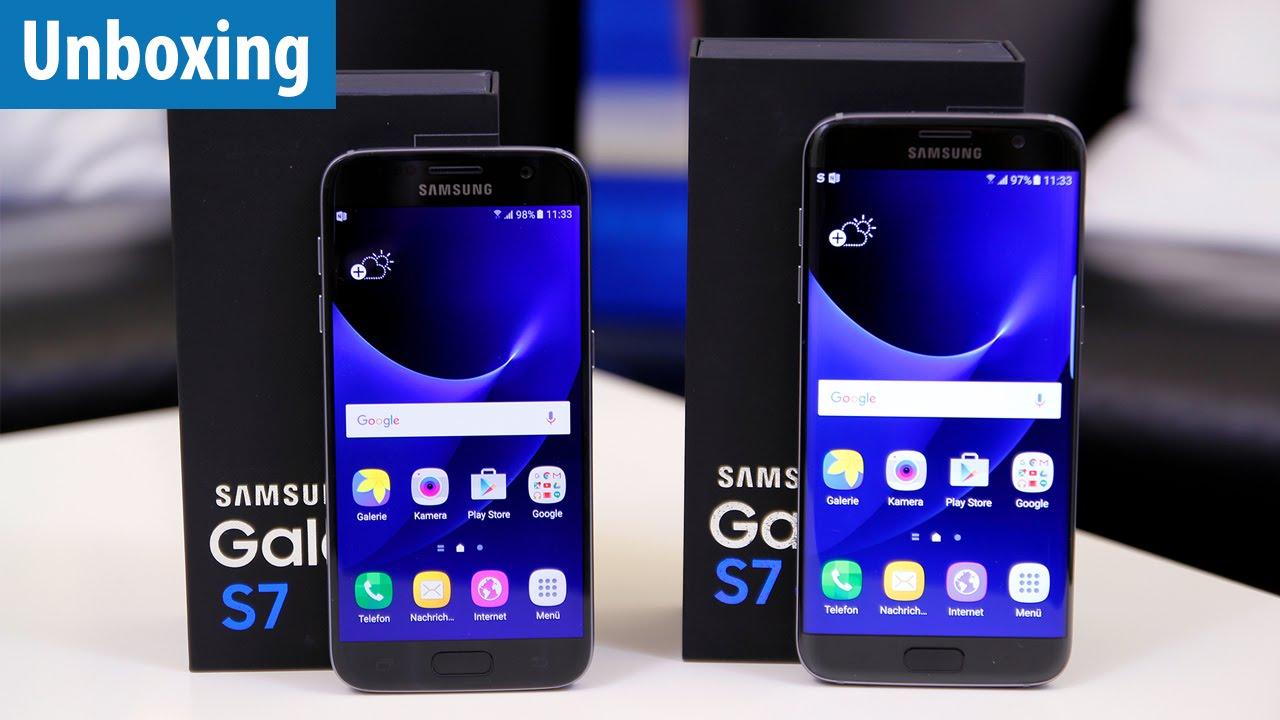 Samsung Galaxy S7 S7 Edge Unboxing Vergleich Mit S6