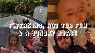 TWERKING, HOT TUB FUN & A SUNDAY ROAST | Dan & Lucy Vlogs