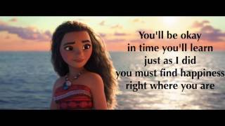 Moana Where You Are Lyrics