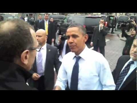 President Obama visits Del Ray in Alexandria, Virginia