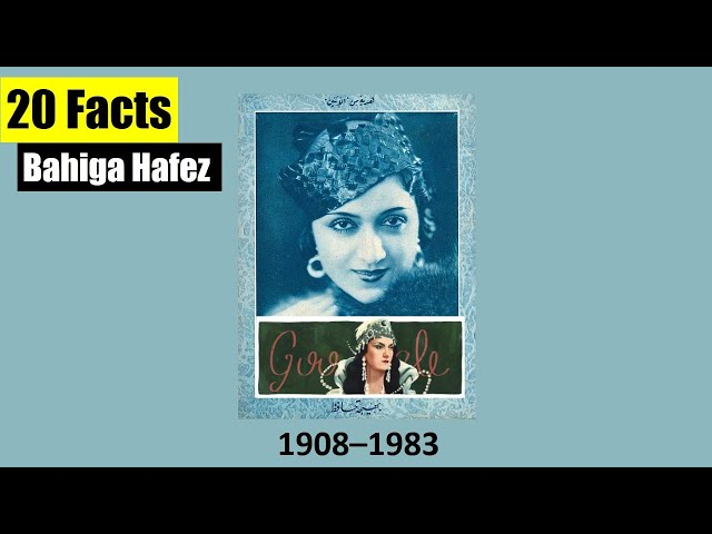 20 Facts about Bahiga Hafez - Egyptian actress and filmmaker