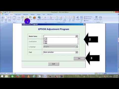 Epson L110, L210, L300, L355, L350 Waste Ink Pad Reset Using Adjustment Program