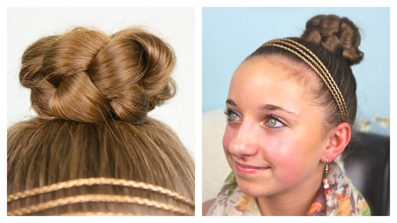 simple braided bun updo cute