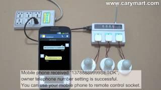 Mobile Phone GSM Smart Power Socket Controls AC Lamps