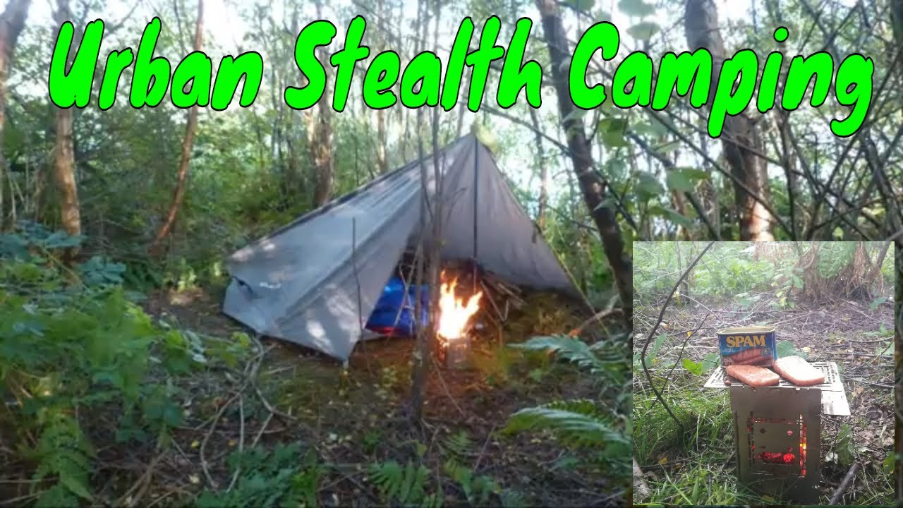 Urban Stealth Camping In Residential Area Wild Camping