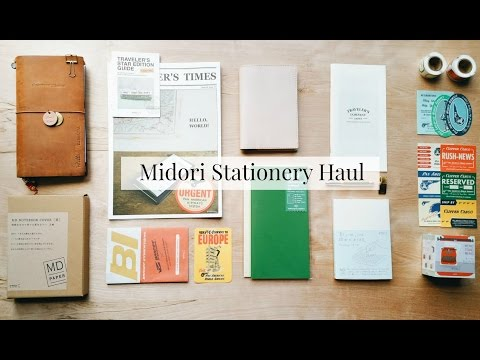 Midori [Traveler's Notebook] Stationery Haul