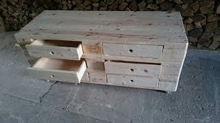 Schubfach für Palettenmöbel, Möbel aus Europaletten selber bauen