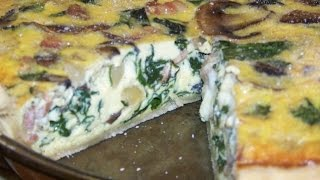 Quiche, Bacon, Sausage, Spiniach, Mushroom 4/4 Chef John The Ghetto Gourmet Show Ii