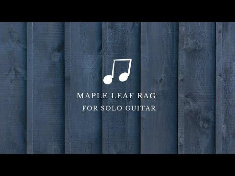Maple Leaf Rag by Scott Joplin for guitar solo (Fabio de Simone arrangement)
