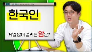 한국인 제일 많이 걸리는 암은?