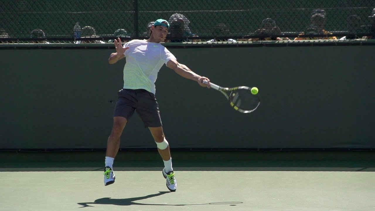 Rafael Nadal Forehand In Super Slow Motion 2 Indian Wells 2013 Bnp Paribas Open Youtube