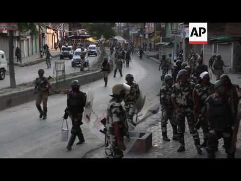 Tear gas fired as protests continue in Kashmir
