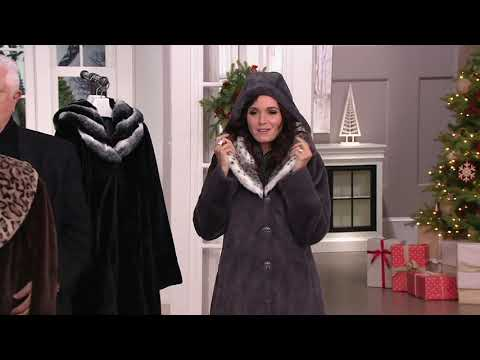 Dennis Basso Faux Fur Coat with Removable Hood and Collar on QVC 0831537969259