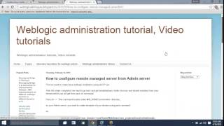 Clusters configuration weblogic administration tutorial