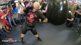MIGUEL COTTO POV BOXING WORKOUT ON AQUA BAG - GO PRO HERO 6