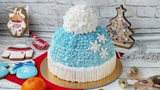 Торт Зимняя шапка Новогодний торт в виде шапки